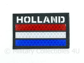 Nederlandse leger infrarood patch - Black - met klittenband - HOLLAND  - 5 x 8 cm