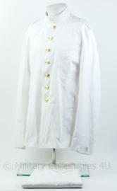 KM Koninklijke Marine witte tropen uniform jas met opstaande kraag en broek Toetoep - Zeldzaam - maat 56 jasje en 55 3/4 broek - NIEUW - origineel