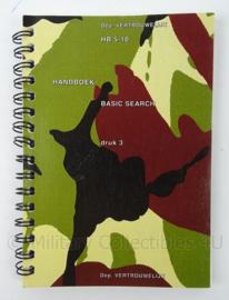 KL Landmacht Handboek Basic Search - HB5-10 - afmeting 15 x 11,5 cm - origineel