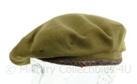MVO net naoorlogse baret eind jaren 40/ jaren 50- luxe model - gladde stof - maat 57 - groen - origineel