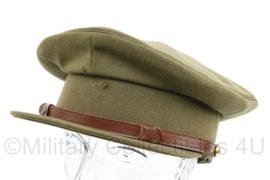 KL MVO platte pet zonder insigne - maat 55 - gedragen - lijkt op WO2 Brits model - origineel