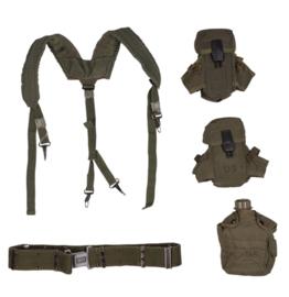 US Army LC2 koppel met suspender, M16 magazijntassen en veldfles - 5-delig - origineel