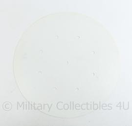 Nederlandse Defensie Kunststof Wit Rond bord 40 cm. circuitbord bewegwijzeringsbord  - nieuw! maar origineel