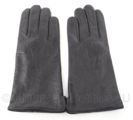 KL handschoenen zwart leer Handschoenen leder heren gevoerd zwart slipon-model - NIEUW IN VERPAKKING - maat 10 - origineel