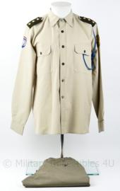 Defensie VN UN Libanon broek met shirt uit de jaren 70 a 80 - rang Kapitein - Jas maat 15 ¾ - origineel