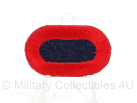 WO2 US Oval wing klein formaat - blauw met rode rand - afmeting 2,5 x 4 cm - replica