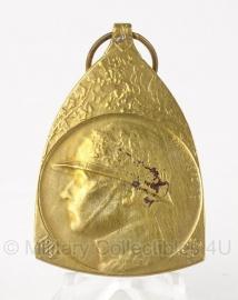"""Belgische """"Herinneringsmedaille 1914-1918"""" gouden medaille - Origineel"""