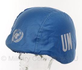 Universeel blauw helm overtrek VN UN / United Nations MET helm - origineel