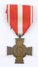 """Belgische """"republique francaise"""" bronzen medaille - Origineel"""