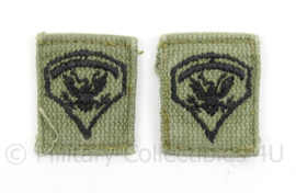 US Army BDU kraag insignes - afmeting 3 x 3,5 cm - origineel