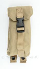 Defensie, Korps Mariniers en US Army Khaki MOLLE single magazin pouch M4 en Diemaco - 22 x 8,5 x 5 cm - origineel