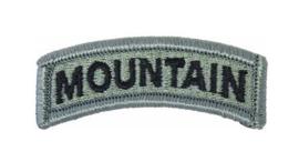 US Army Foliage tab - MOUNTAIN - met klittenband - voor ACU camo uniform - 6,2 x 2 cm - origineel