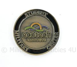 US Army Coin Ecotech Institute Student Military Centre - diameter 4 cm - origineel
