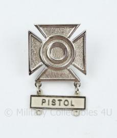 US Army Marksman badge Pistol - 4,5 x 3,5 cm - origineel