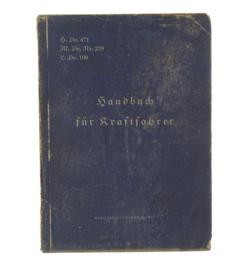 WO2 Duits handboek für Kraftfahrer h.dV. 471 - 1942 - origineel