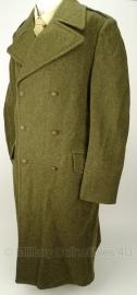Dikke wollen MVO mantel overjas - jaren '50 - WO2 US model - maat 47 -  origineel