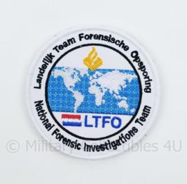 LTFO Landelijk Team Forensische Opsporing embleem - met klittenband - diameter 9 cm