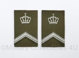 KL Nederlandse leger epauletten schouderstukken set - Sergeant der 1e klasse - origineel