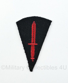 WO2 Britse British Royal Marine Commando Brigade Dagger patch embleem - black base - 4,5 x 7 cm