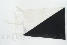 KL Landmacht seinvlag - Colonne Commandant - zwart/wit - 32 x 43 cm - maker: shipmate - origineel