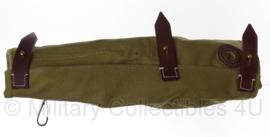 MG34  Action cover groen stof met bruin leer- replica
