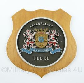KL legerplaats Budel wandbord - Je Maintiendrai - afmeting 16 x 16 x 1 cm - origineel