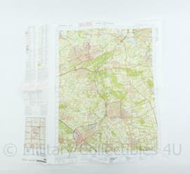 Stafkaart 45  Oost Zwolle Emmen -29x12 cm - origineel
