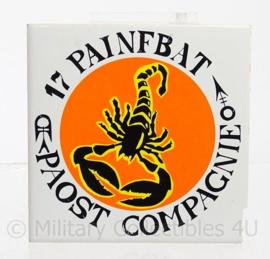 Porseleinen wandbord 17 painfbat  PAOST compagnie - 15 x 15 cm - origineel