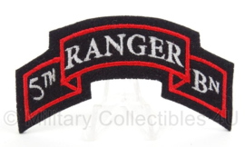 WO2 US 5th Ranger Batallion patch - afmeting 9 x 5 cm - replica