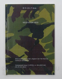 KL Landmacht Instructiekaart Veldtesten USCS Unified soil classification system - IK5-131 - afmeting 10 x 15 cm - origineel