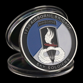US Army 173d Airborne Brigade coin - Sky Soldiers - 40 mm diameter