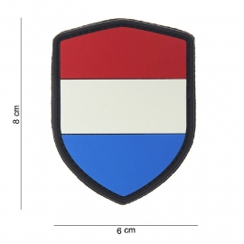 Uniform landsvlag Nederland Embleem 3D PVC PVC schild - met klittenband  - 8 x 6 cm