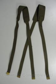 KL Kruisriemen groen webbing 1 set - oud model - origineel