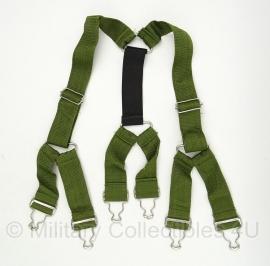 Moderne bretel extra degelijk GROEN - knoopbevestiging - ongebruikt - origineel