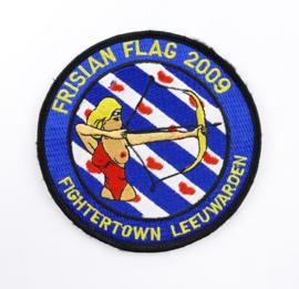 KLU Luchtmacht embleem Frisian Flag 2009 Fightertown Leeuwarden - met klittenband - diameter 10 cm - origineel