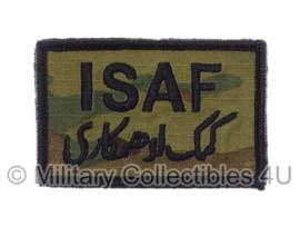 US Army OCP SSI patch - ISAF - met klittenband - voor multicamo uniform - origineel
