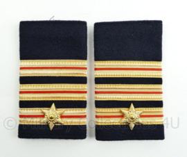 Nederlandse Brandweer epauletten - hoge rang commandeur - paar - origineel
