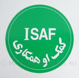 SFOR ISAF voertuig sticker - 28 cm diameter - origineel