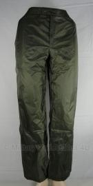 Regenbroek groen - Franse leger - ongebruikt - maat small / 76 cm. - origineel