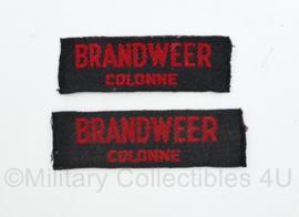 MVO straatnaam  PAAR Brandweer Colonne - 7,5 x 2 cm - origineel