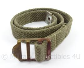 WO2 US OD green leg strap - afmeting 47 x 1,5 cm - origineel