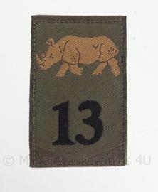 """KL eenheid GVT embleem met klittenband """"13de gemechaniseerde brigade"""" - 1963/2000 - origineel"""