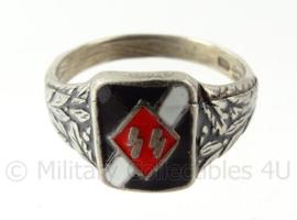 WO2 Duitse SS Runen ring met stempels binnenin - diameter 20 mm