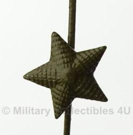 Russische rang ster groen - metaal - origineel