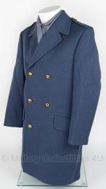 Klu Luchtmacht blauwe mantel wol half lang - 1980 - maat 48 (valt ruim) - origineel