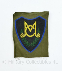 KL DT embleem tot 2000  MC Militaire Colonne - ongevouwen - 8 x 6 cm - origineel