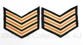 Nederlandse Brandweer rang per paar - rang Hoofd brandwacht - 11 x 9,5 cm - origineel