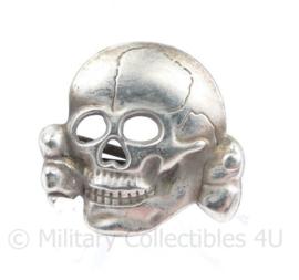 Pet Doodskop Totenkopf metaal Panzer & SS - aged zilver