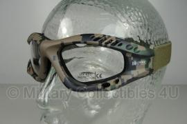 Tactical bril - heldere glazen - USMC Marpat digital woodland camo frame