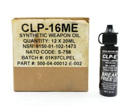 US Army flesje  CLP 16ME synthetic multi purpose weapon oil with PTFE voor wapenonderhoud - inhoud 20 ml - nieuw - origineel